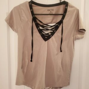 Lace Up/cutout Tshirt